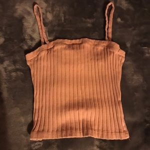 Simple washed pink urban outfitters tank top